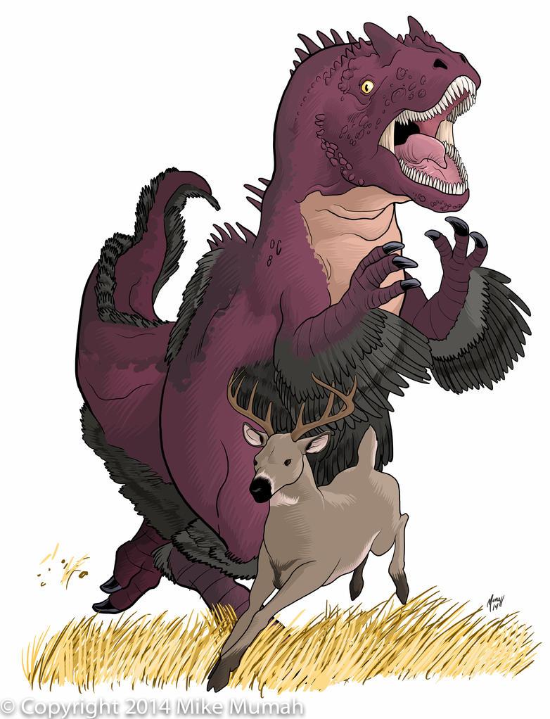 Allosaurus on the Hunt by Mumah