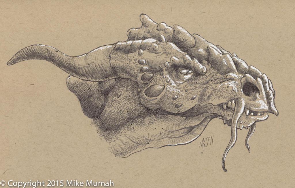 Dragon Sketch by Mumah