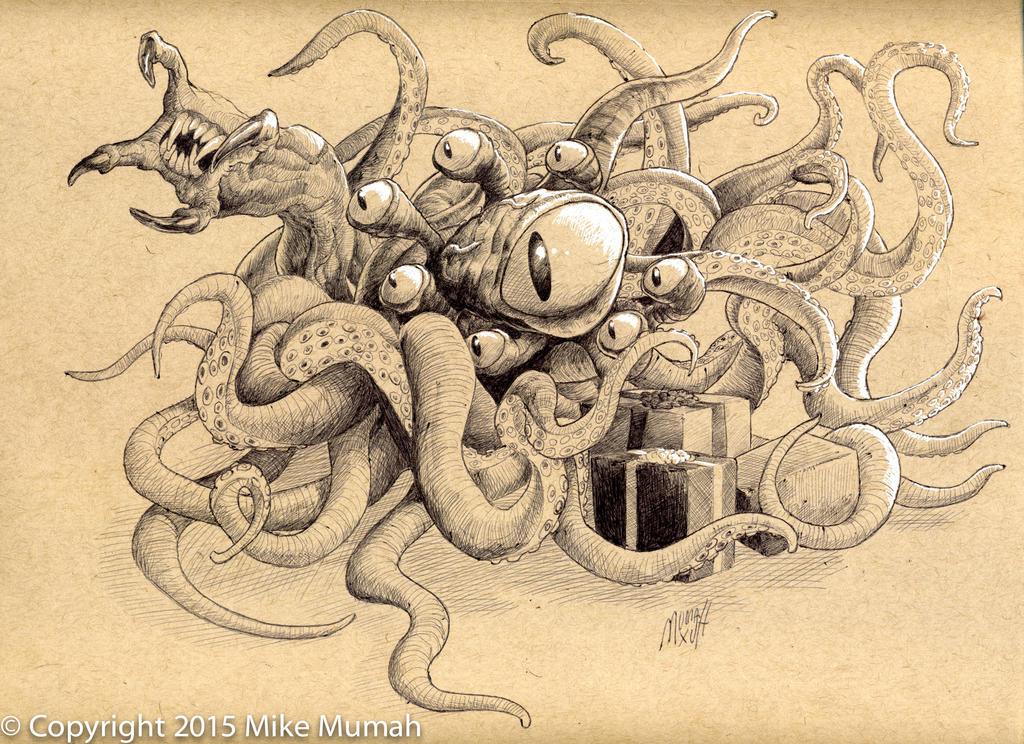 Squid thing sketch by Mumah