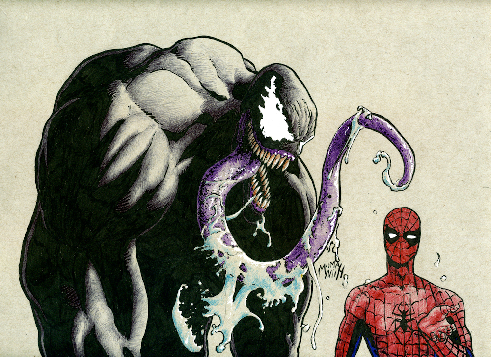 Spidey and Venom by Mumah