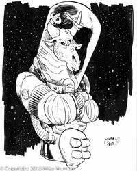 Edgar the Space Cow by Mumah