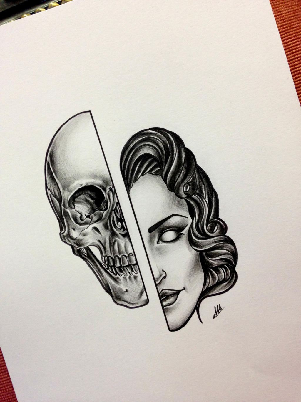 Donna danno by antoniettaarnonearts on deviantart for Vampire skull tattoo