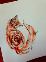 *Fox N' Rose* by AntoniettaArnoneArts