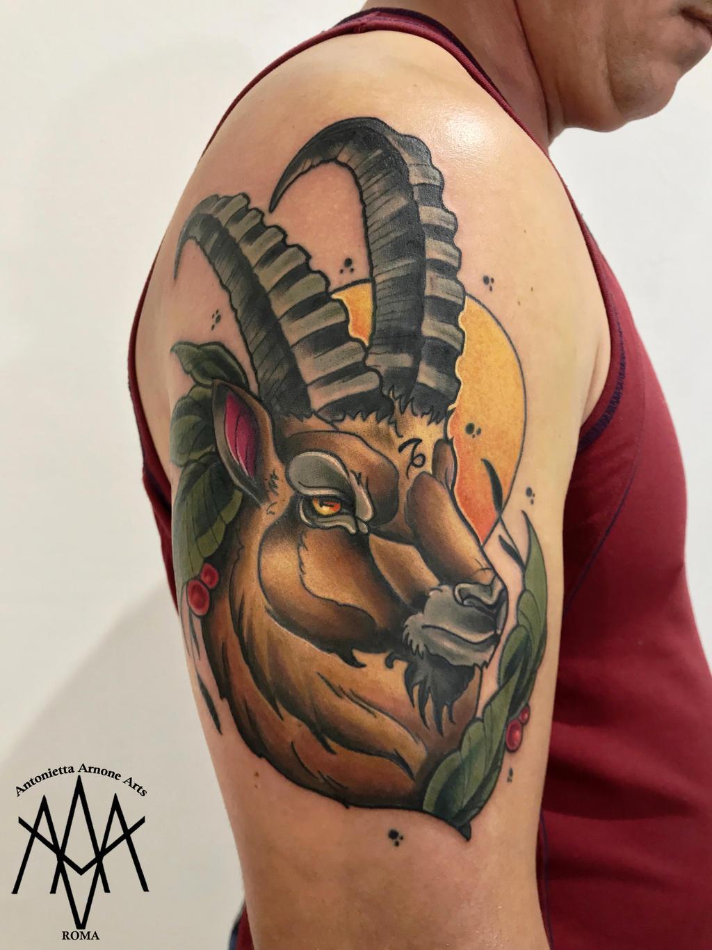 Capricorn Tattoo By Antoniettaarnonearts On Deviantart