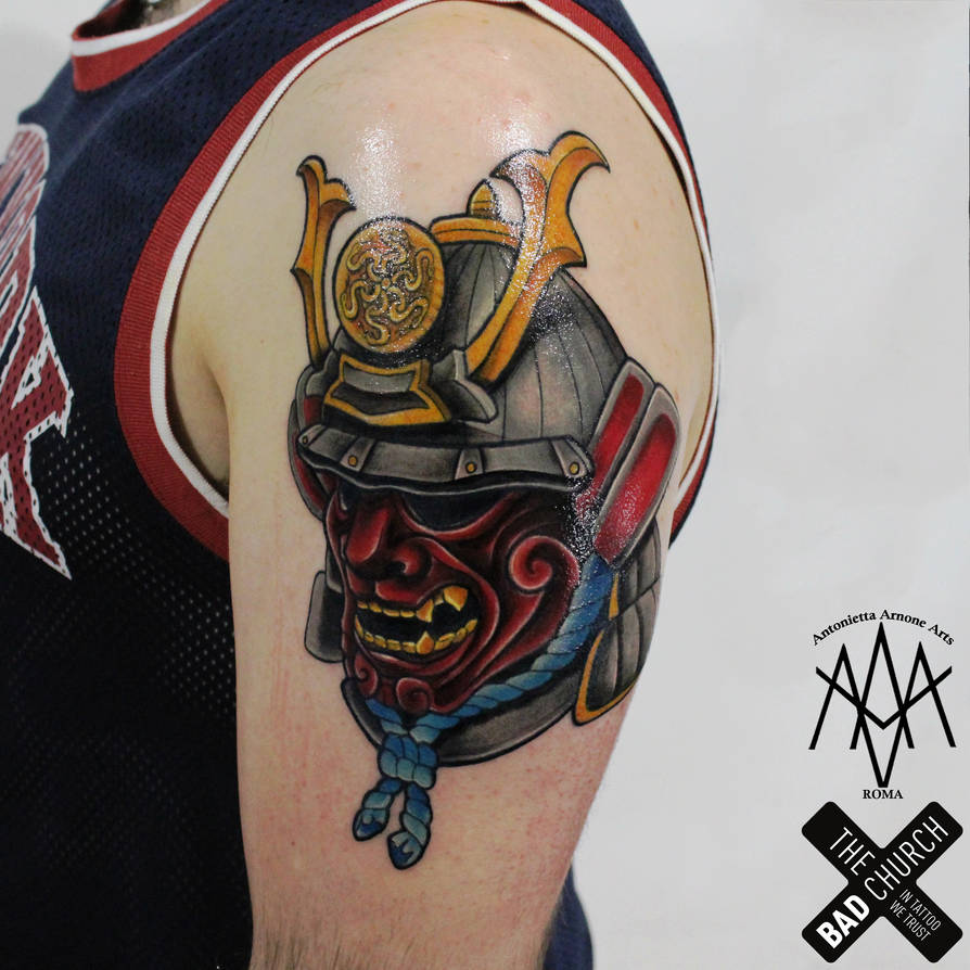 Samurai Tattoo By Antoniettaarnonearts On Deviantart