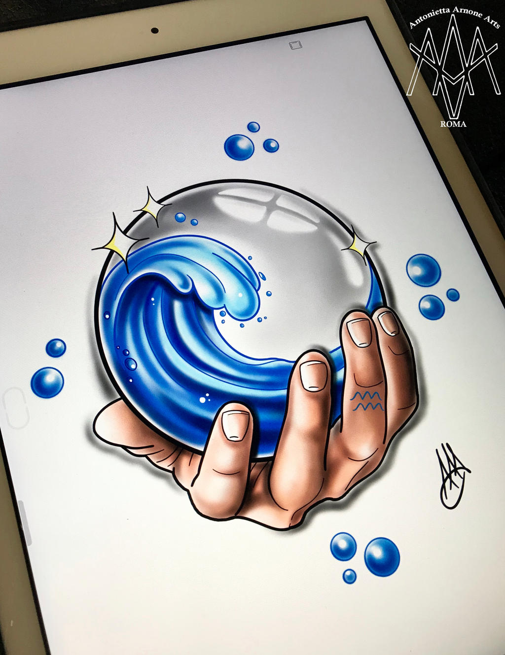 Aquarius Tattoo By Antoniettaarnonearts On Deviantart
