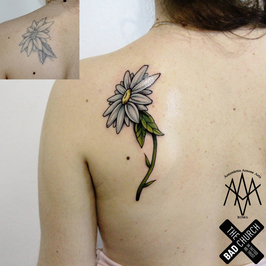 839a3f061 Daisy restyling tattoo by AntoniettaArnoneArts on DeviantArt