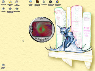 my work desktop by xybercat