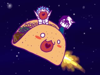 Grimm and Ulqui ride THE TACO by GrimmUlquiFC