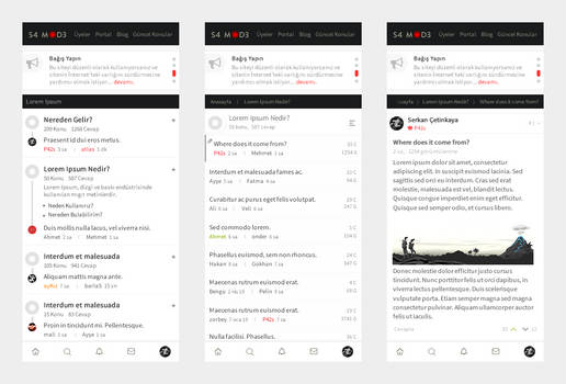 Responsive Forum Concept Design for phpKF