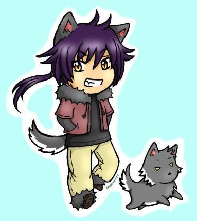 Anime Wolf Boy Chibi