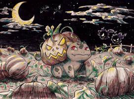 Halloween Bulbasaur by Fuugis