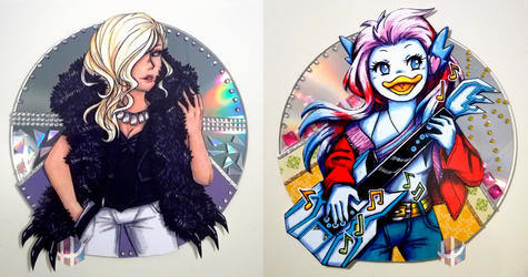 CD art commissions #1 and #2 by Fuugis