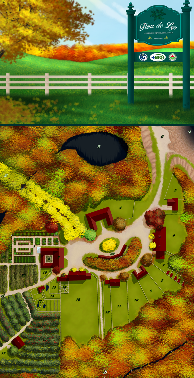 Fleur de Lys farm map by WolverineGuardian