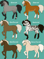 Draft foals adoptables by Qavvikk