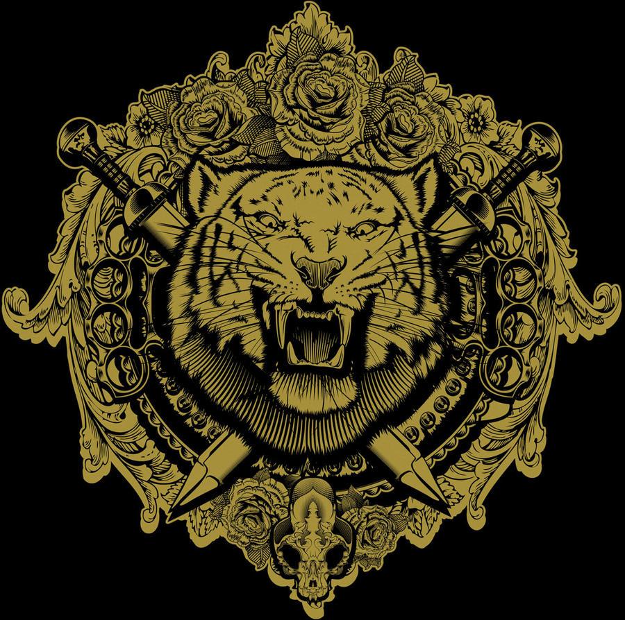 Design t shirt artwork - Furious Tiger Tshirt Design By Griffongore Furious Tiger Tshirt Design By Griffongore
