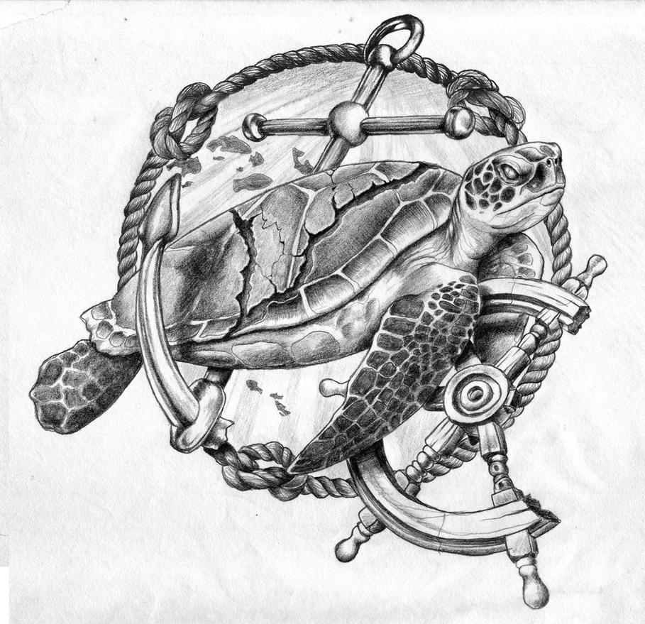 Sea Tortoise Tattoo Design By GriffonGore On DeviantArt