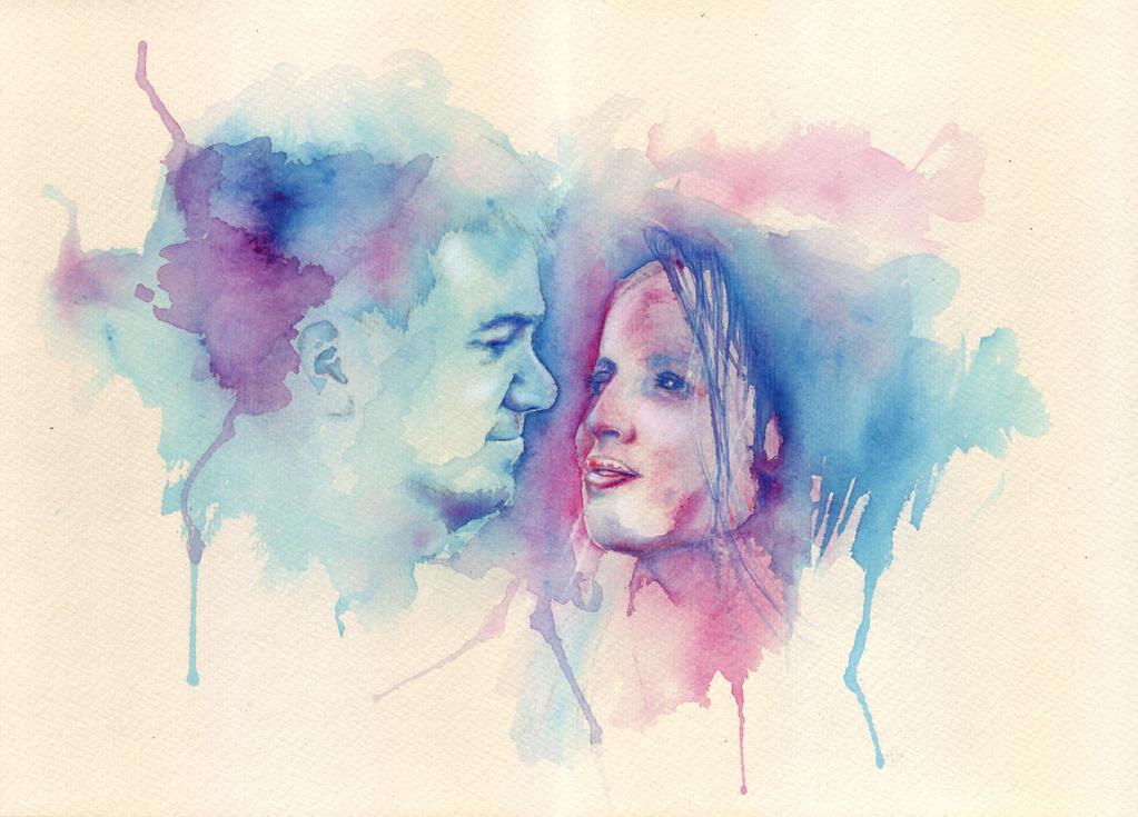 Watercolour portraits by GriffonGore