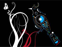 Digital Bird by guruakki