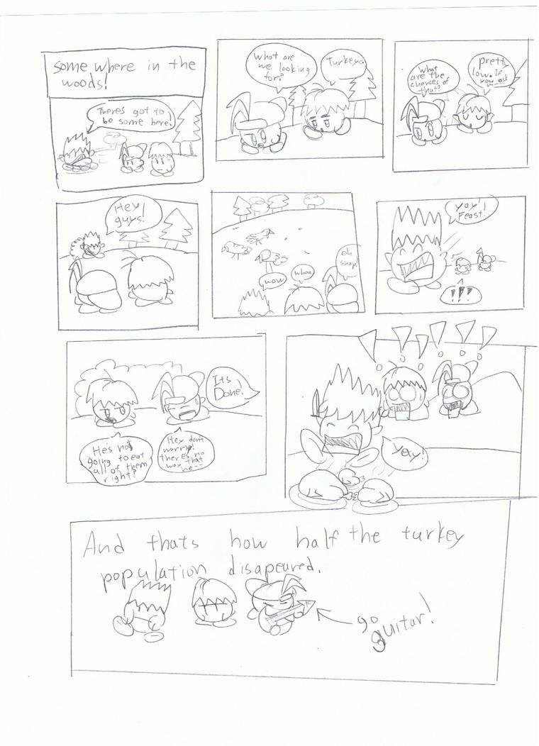thanks giving comic by KingKirbyThe3rd