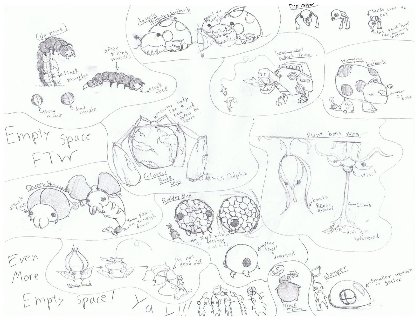 Pikmin 3 Ideas Enemies By Kingkirbythe3rd On Deviantart