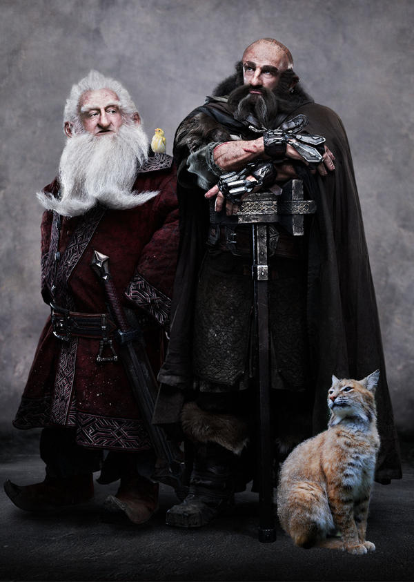 Balin, Dwalin and Their Daemons by LJ-Todd