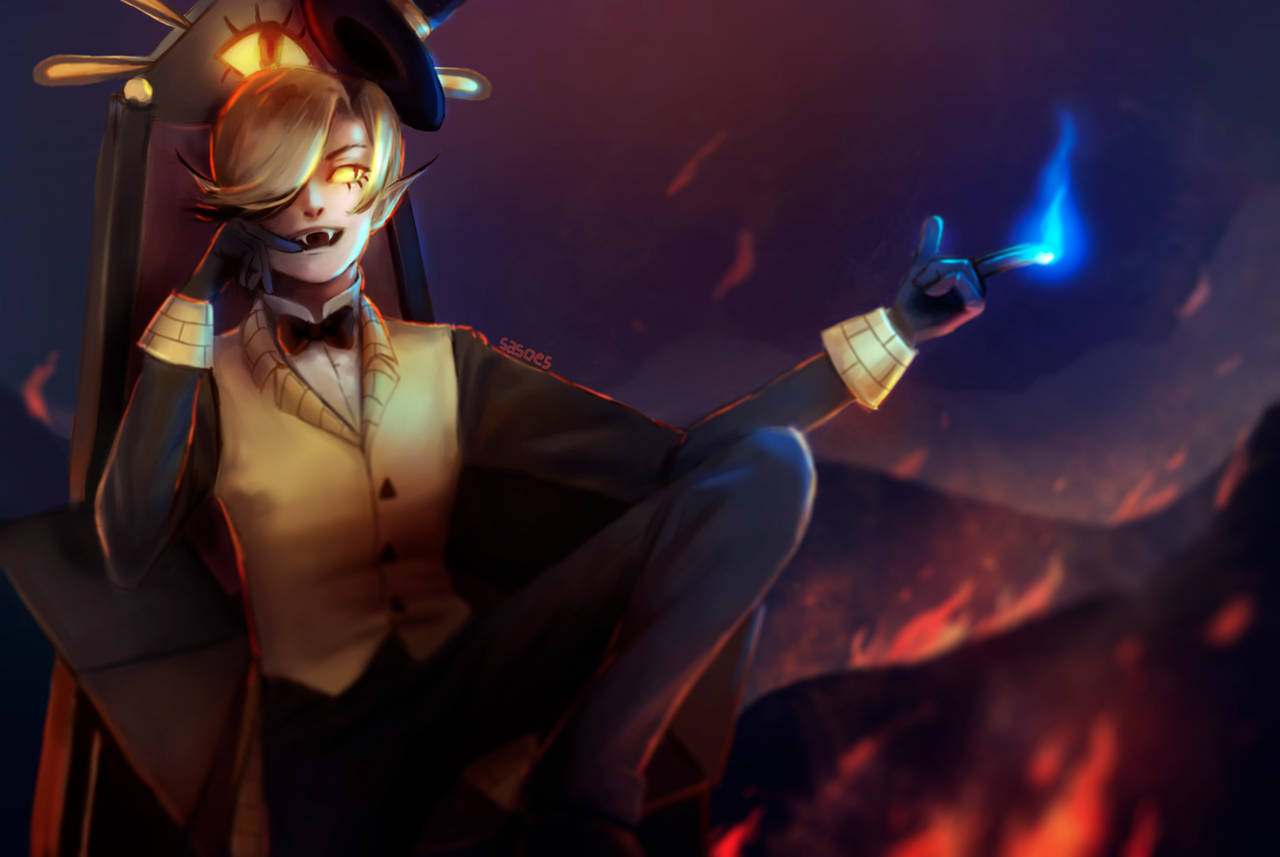 Bill Cipher (again) by sasoes