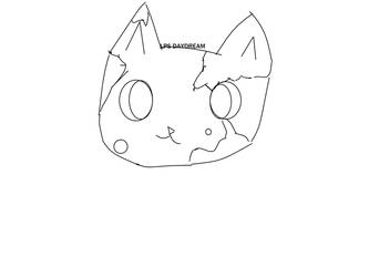 Cat Lineart ( GIVE CREDIT IF USE )