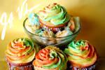 Rainbow Sherbet Cupcake 3 by oldschoolair