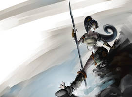 League of Legends - Nidalee, feral cat by nfouque