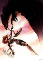 League of legends - Shyvana: The Fall by nfouque