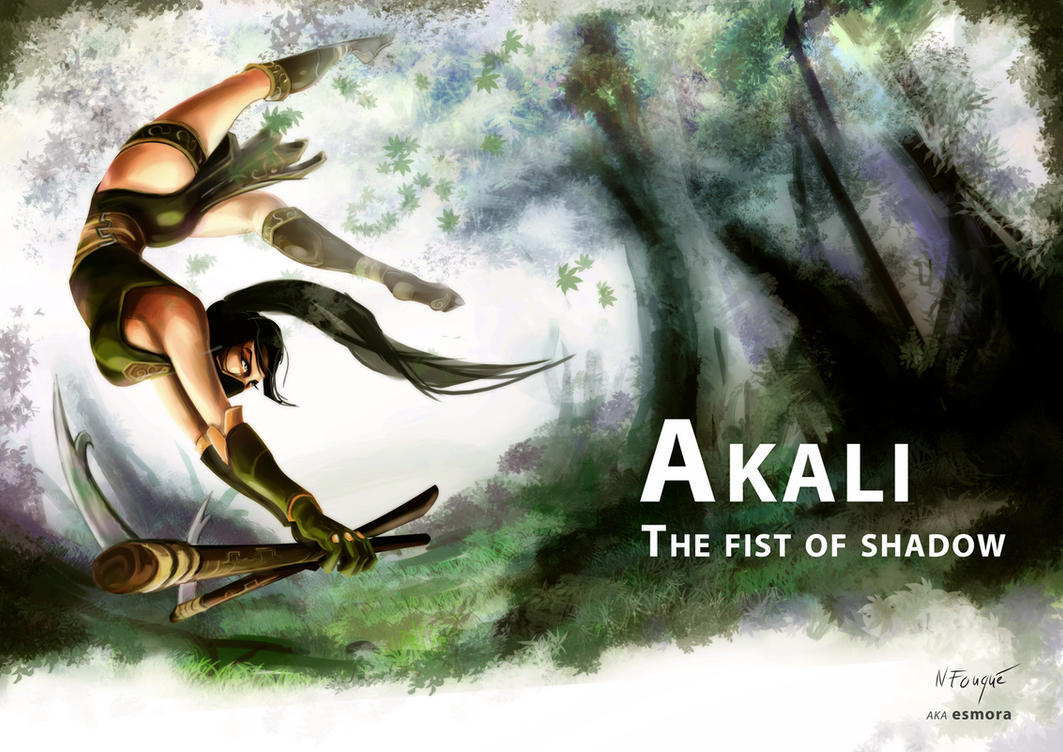 Akali, fist of shadow (part one) by nfouque