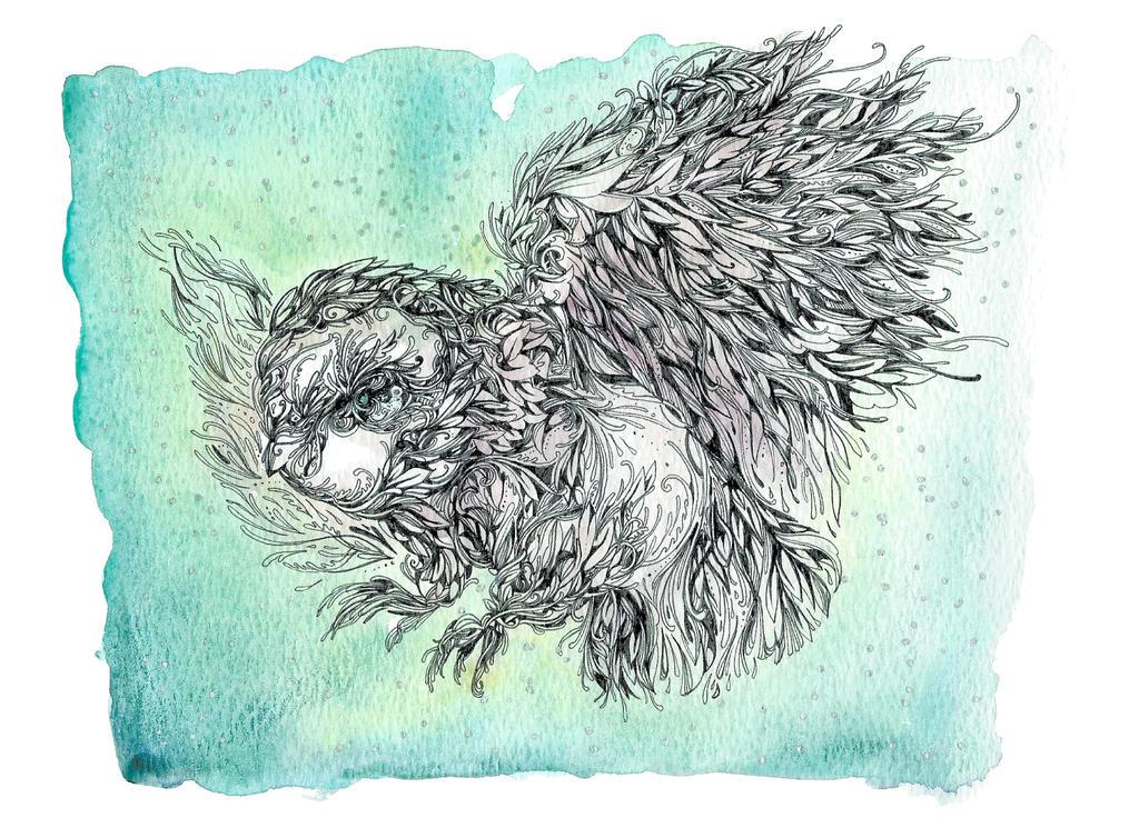 Owl taking Flight