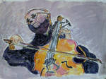 My rendition of Rostropovich cello-ing