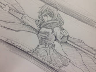 Doodling #2 Ruby Rose by DarkBearLab