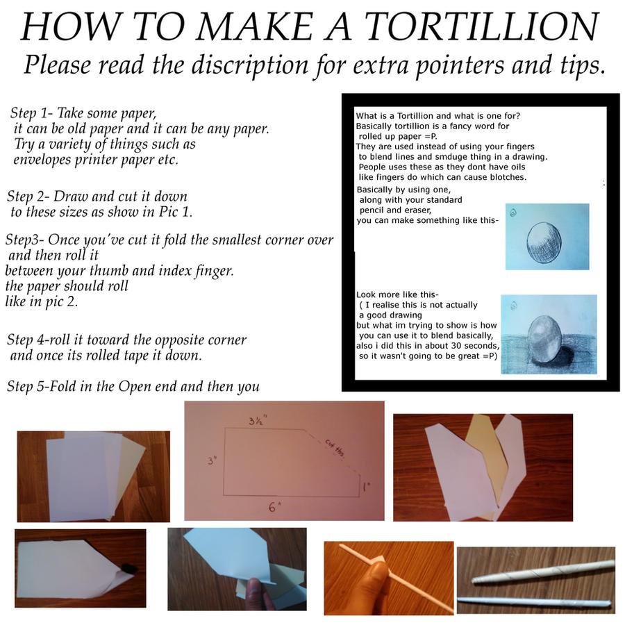How to make a tortillion