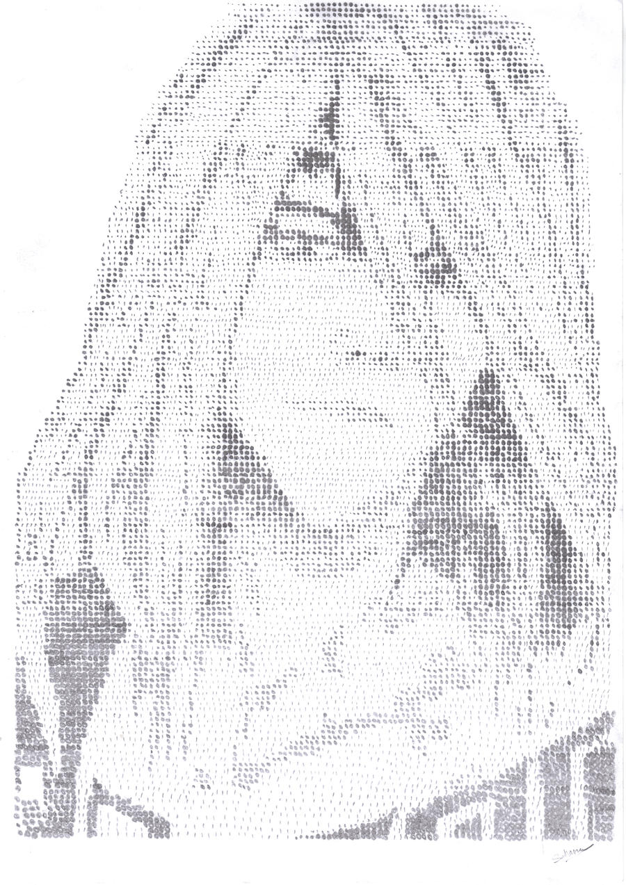 Renji Abarai Pointillism Portrait