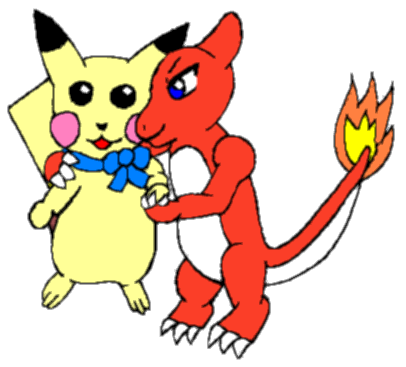 Pikachu and Charmeleon color by MikariStar