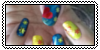 Blue and Yellow Manicure Stamp 1 by MikariStar