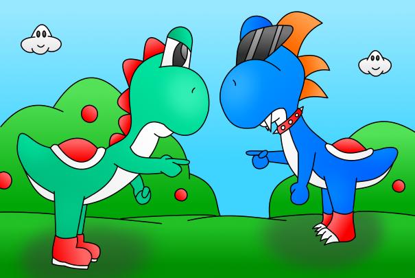 Yoshi vs Boshi color by  MikariStar on deviantARTYoshi Vs Boshi