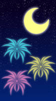 Fireworks iPhone Wallpaper by MikariStar