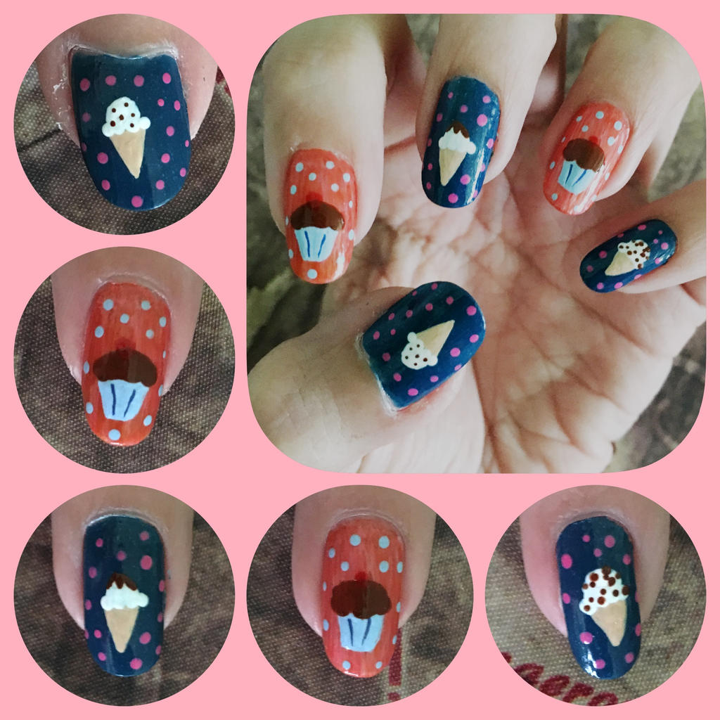 Icecream Cupcake Left by MikariStar