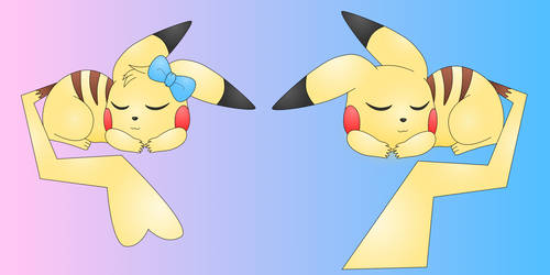 Sleeping Pikachus