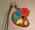Paint pallet keychain by MikariStar