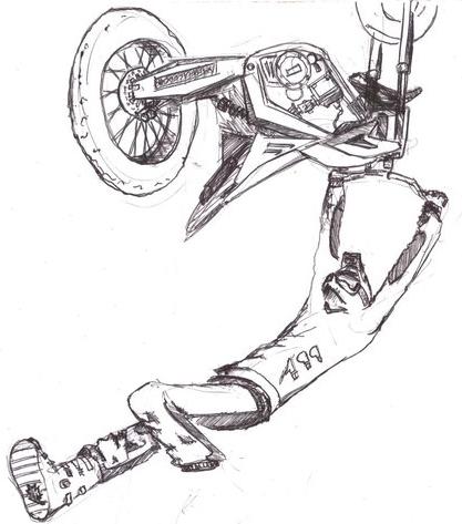 Dibujos de motocross a lapiz - Imagui