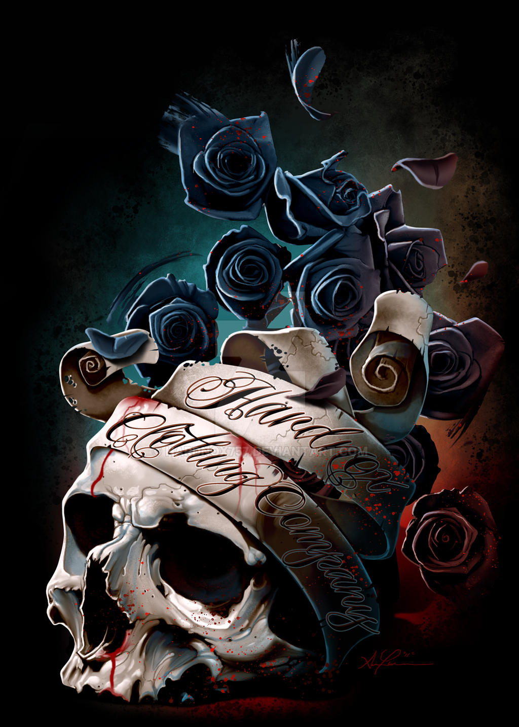 skull and roses wallpapers - photo #25