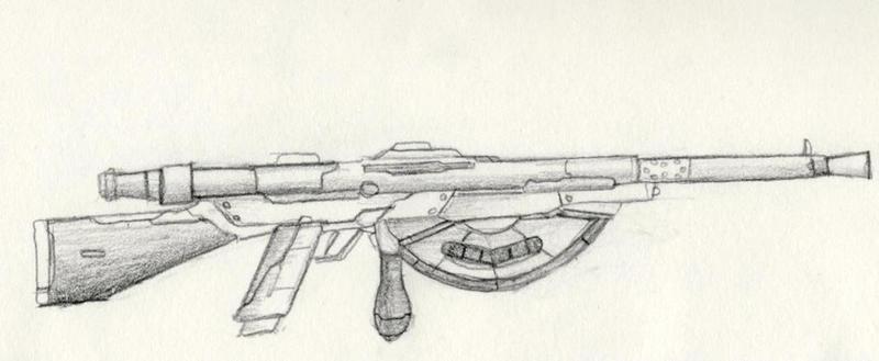 chauchat machine gun by prinzeugn on deviantart