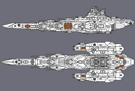 Pixel Space Battleship WIP by PrinzEugn
