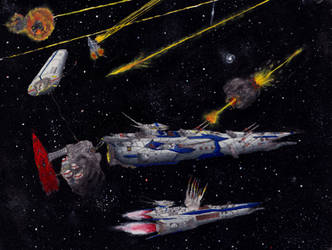 Classic Space Battle: Surprise Attack by PrinzEugn