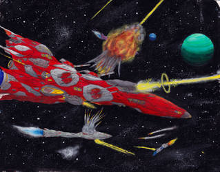 Classic Space Battle: Ready, Aim, Fire by PrinzEugn